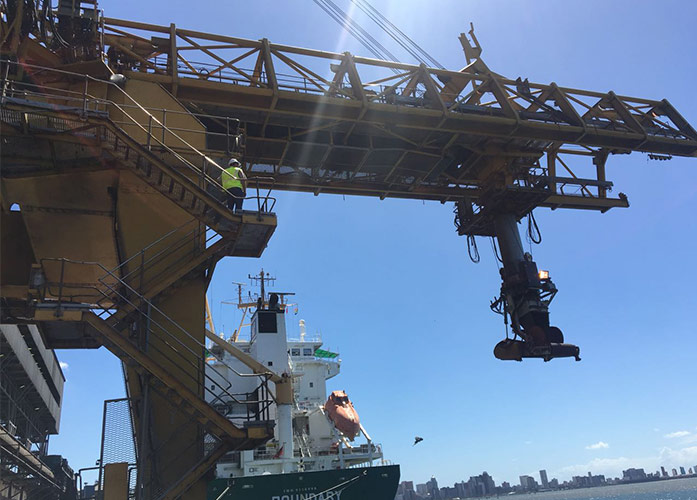 Rugged ProSoft radios provide seamless wireless solution on Thyssenkrupp shiploader system at the Port of Durban