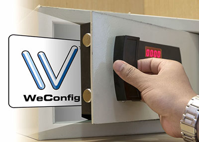 WeConfig can secure the project file using a password